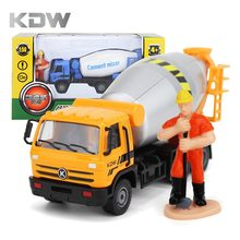 KDW 1:50 Cement Mixer Toy Truck Model Alloy Metal Engineering Vehicles Truck Diecast Toys Vehicles for Kids Children Car Model