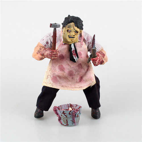 1Set 23cm Creative The Texas Chainsaw Massacre Action Figure Model Terror Doll Leatherface Saw Figures Toys Christmas Gift<br>