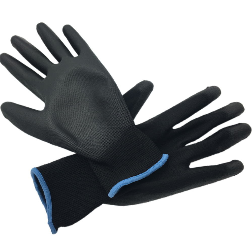 13G black PU Work Gloves Palm Coated ,working gloves,Workplace Safety Supplies,Safety Gloves PU518,guantes trabajo 24pcs=12pairs IMG_1916