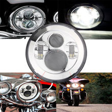 "Chrome 7"" Round Daymaker LED Projectior Headlight Headlamp for Harley Davidson Motorcycle Jeep Wrangler Hummer 7"" Led Headlight"