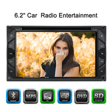 Universal 6.2 Inch Car Electronic Autoradio 2 din Car DVD CD Player for Volkswagen golf 5 opel astra h vw(China)