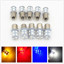 CYAN SOIL BAY 10PCS Ice Blue Red Amber White 1156 G18 Ba15s P21W 13 5050 LED SMD Turn Signal Rear Light Bulb Lamp 12V 24V(China)