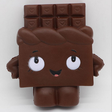 New 13cm Jumbo Chocolate Boy Girl Squishy Scented bread Pendant Soft Slow Rising Gift Kids Fun Toy mobile Phone Straps(China)