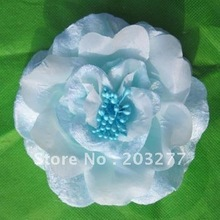 Free shipping!12pcs/lot  velvet hibiscus Flower brooch pin hair clip