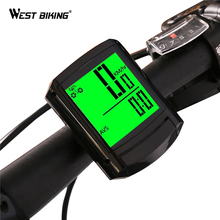 WEST BIKING Bicycle Computer Wireless Bike Speedometer Cycling Bike Odometer 2 inch LCD Screen Velocimetro Bike Ciclocomputador