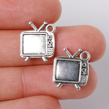 Promotion 10pcs 13x15mm Zinc Alloy Antique Silver Television Charms Pendants Jewelry Findings for DIY fashion bracelet necklace