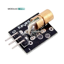 Laser sensor Module 650nm 6mm 5V 5mW Red Laser Dot Diode Copper Head for Arduino