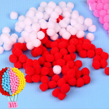 100pcs 15mm Colorful Pom Poms Puzzle Toys Creative Handcraft Kindergarten Kids Baby Learning Educational Decorative Craft Puzzle(China)