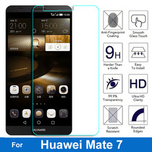 Super HD 2.5D Anti-explosion Screen Protector Tempered Glass Film For Huawei Ascend Mate 7 Mate7 Matt MT7-CL00 MT7-TL00 MT7-TL10(China)