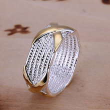 Fashion Jewelry Silver Plated Rings for Women Cross Shape Wedding Bridal Jewelry,X Ring wedding Rings Size 6-10 anelli donna(China)