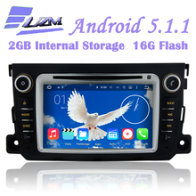 Newest Android 5.1.1 Car DVD Player Radio Video Player stereo BT GPS Navi Android WiFi 3G For Benz Smart Fortwo 2012 2013 2014