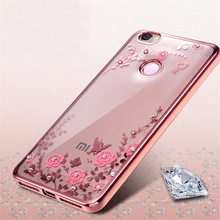 Luxury Fashion Rhinestones Soft Silicone Case for Xiaomi Mi5 Cases Xiaomi Mi5s Case Xiaomi Mi 5 Mi 5s Cases Phone Cover P15