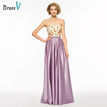 Dressv strapless a line sleeveless mother of bride dress embroidery floor length bowknot long mother evening gown custom(China)