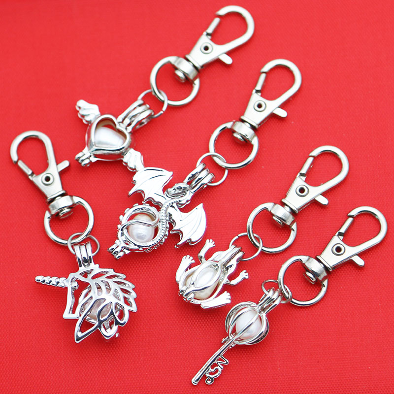 Detail Feedback Questions about Silver Pearl Keychain Cage Jewelry ... 77036155b6