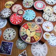 NEW! 30pcs/pack Vintage Clock Shape Retro Decorative Pre Die Cut Stickers for DIY Scrapbooking Planner/Card Making Craft