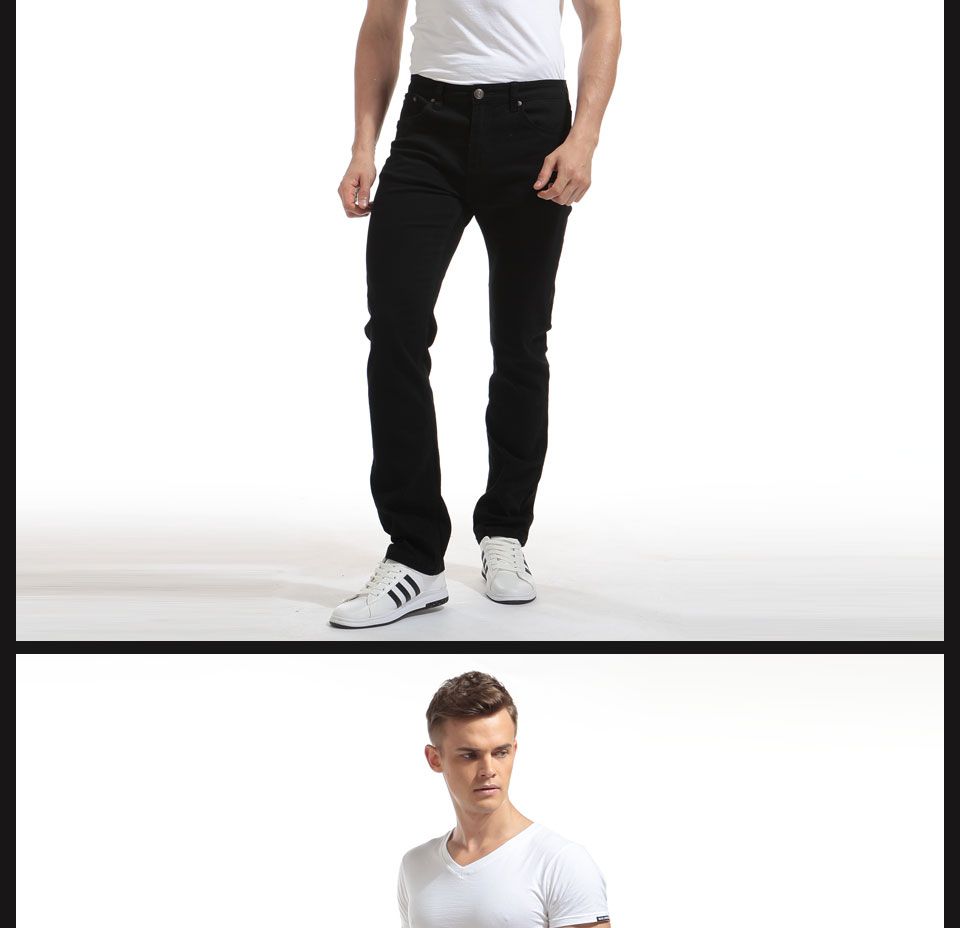 Alice & Elmer Pants Men Stretch Casual Pants For Men Slim Straight Pants Black Pantalones de hombre Jeans para homem 10