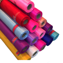 Hot Sale 50yardsx47cm/lot Glass Organza Tulle Roll Fabric  For Wedding Party Decoration or New Year Decoration . D319