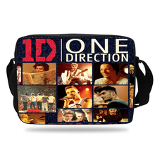 Cool Children Cartoon Shoulder Bag For Kids One Direction Messenger Bag For School Boys Girls