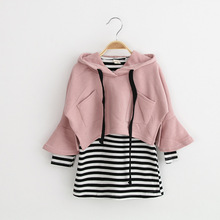 Buy cotton Stripe dress+shawl 2pcs children clothing autumn newness baby girls dresses brand kids clothes set roupas infantis menina for $14.75 in AliExpress store