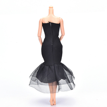Elegant Lady Black Little Dress Doll Dresses Evening Dress Clothes for Barbie Dolls Gift Doll Accessories