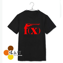 Summer style fx album red light printing o neck t shirt for men women fashion kpop short sleeve t-shirt plus size top tees