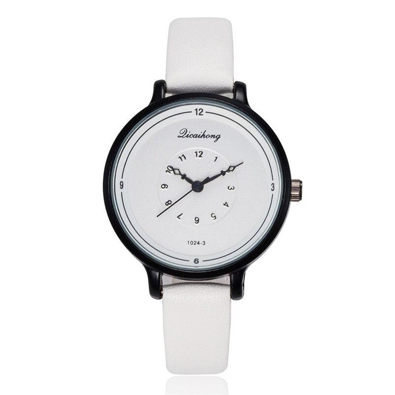 2018 High Quality women fashion casual watch luxury dress ladies Leather Band Analog Quartz Wrist Watch Clock relogio J13#N (7)