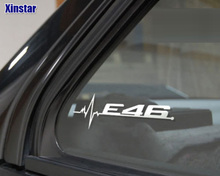 2pcs/lot M power performance E28 E30 E34 E36 E39 E46 E60 E61 E62 E90 E91 E92 LOGO car windows sticker for BMW(China)