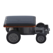 Hot! Creative Solar Powered Mini Running Car for Children Toys Present New Sale(China)