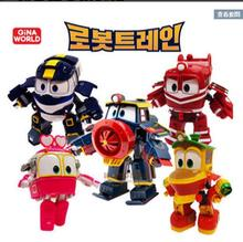 2016 South Korea dynamic train family trains robot dynamic train suit toy for children gift