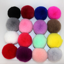 Buy 30pcs/lot DIY 6cm Real Rabbit Fur Ball pompom keychains bags hats scarf pom pom Wholesale for $15.98 in AliExpress store