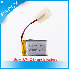 5pcs 3.7V 240mAh 30C LiPo Battery For 6020 Syma S107 S108 S109 S026 RC Helicopter Quadcopter Parts and Accessories DIY Drone
