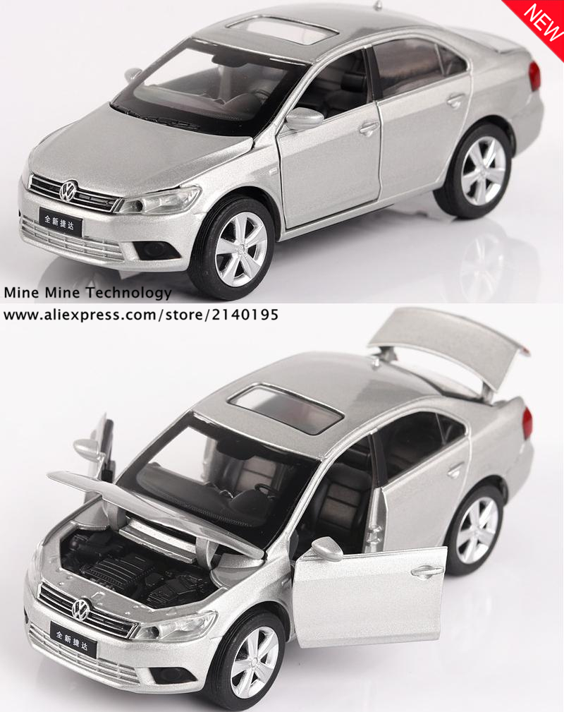Double Horses 1:32 free shipping Volkswagen Jetta Alloy Diecast Car Model Pull Back Toy Electronic classical children Kids Toys(China (Mainland))