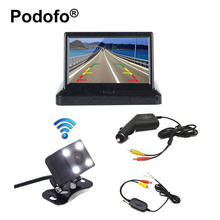 "Wireless Car Backup Camera 4.3""HD Foldable Car TFT LCD Rear View Monitor Parking System Back up Truck Vehicle Rearview Monitors"