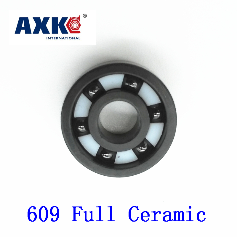 2018 Rushed Rolamentos Axk 609 Full Ceramic Bearing ( 1 Pc ) 9*24*7 Mm Si3n4 Material 609ce All Silicon Nitride Ball Bearings<br>
