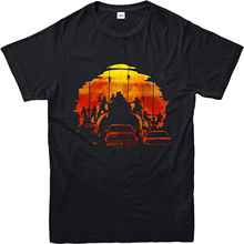 Mad Max Fury Road T-Shirt, Sunset View Inspired Design Top T-Shirt Casual Short Sleeve For Men Clothing Summer