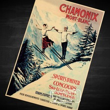 Enjoy Skiing Vintage Retro Decorative Poster DIY Wall Home Bar Posters Home Decor Gift