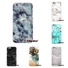 For iPhone X 4 4S 5 5S 5C SE 6 6S 7 8 Plus Galaxy Grand Core Prime Alpha White Black Marble Stone Soft Silicone Phone Case(China)