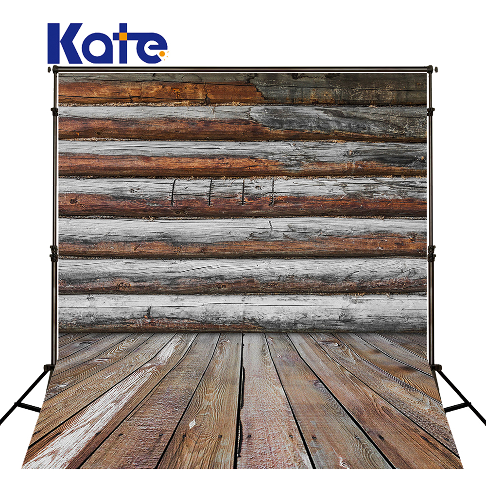 5x7ft Kate photo background Gray Wood Wall Backdrops Wooden Floor Photography Studio for Children Backgrounds<br>