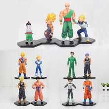 4pcs/set Dragonball Figure Dragon Ball Z Tien shinhan Vetega Chiaotzu Son Gohan Goku Trunks PVC Action Figures model Toy(China)