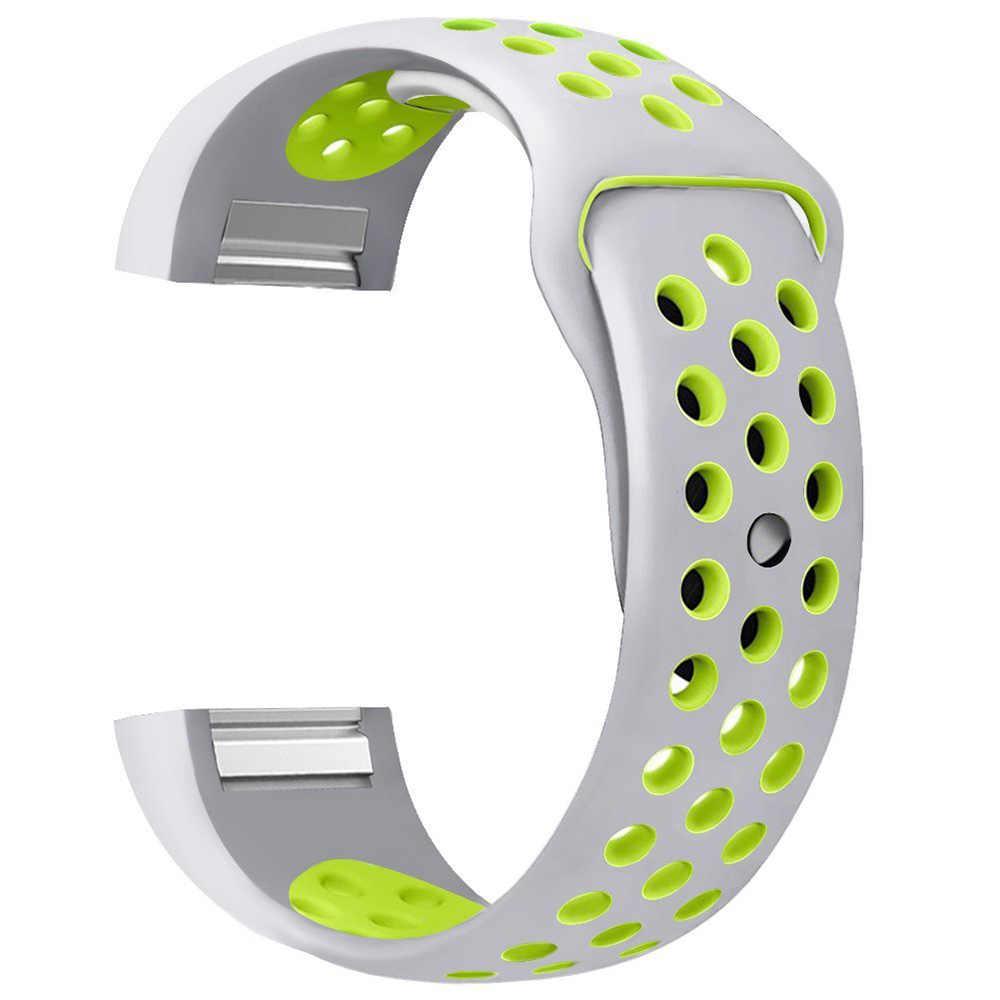 Красочная тесьма для FitBit Charge 2 спортивный силиконовый ремешок Ремешок для FitBit Charge 2 ручные умные браслеты Smart аксессуары