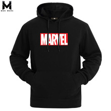 Hot 2018 Autumn And Winter Brand Sweatshirts Men High Quality MARVEL letter printing fashion mens hoodies(China)