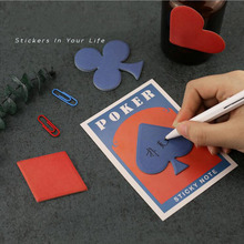 48pcs/lot Creative Poker memo pad Post It note  Sticky Notes Stationery gifts Writing notepads Office School supplies GT154