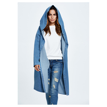 Buy Women's New Fashion Spring Autumn Denim Jacket Long Hooded Loose Full Sleeve Jacket Womens Denim Jackets Coats for $24.44 in AliExpress store