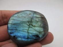 70g 100% Natural Labradorite QUARTZ CRYSTAL Stone specimen Rough Polished from Madagascar Works of art For Lover Home decoration(China)
