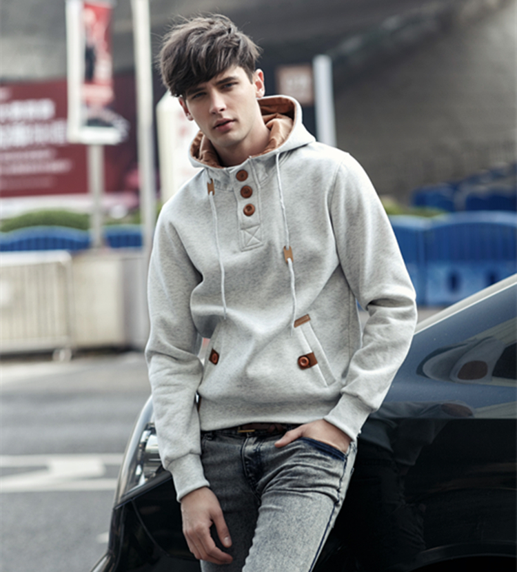 Mens Hoodies Casual Cotton Sweatshirt Autumn New Cardigan Winter Brand Fashion Solid Pullover Hip Hop Hoodie Homme Plus Size 613 8