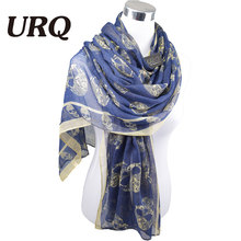 1PC 100*180cm Fashion new design Autumn Winter Big  Skull print Long cotton scarves V10A18171