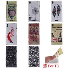 Beautiful Best Ultra Thin TPU Silicone Soft Phone Case Cover Cove Bag For Sony Xperia T3 T 3 D5106 Dreamcatcher Owl Sex Girl