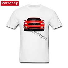 Custom Designer Shirts Mustang Tshirt Youth Guy Short Sleeved Crew Neck Eco Cotton  Shirts Men gift for Dad Hip Hop Clothing