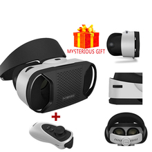 VR Video Box 3 D Gerceklik Google Cardboard Virtual Reality Goggles 3D Glasses Smartphone Helmet Headset Len For Samsung Android