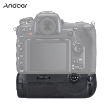 Andoer Vertical Grip Multi Battery Power Pack Grip Holder MB-D17 Replacement Work with EN-EL15 or AA Batteries for Nikon D500